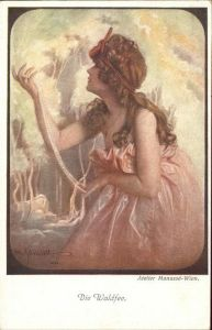 Kuenstlerkarte Nr 406 Manasse Wien Waldfee Kat. Kuenstler