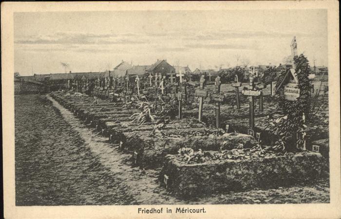 Tod Friedhof Mericourt Kat. Tod