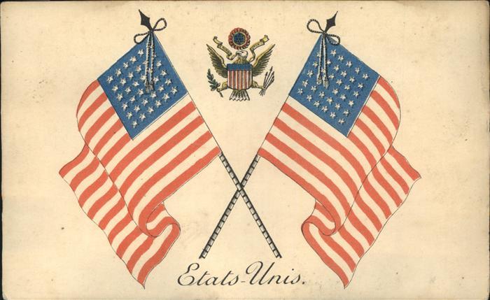 Fahnen Wappen United States of America USA Kat. Heraldik