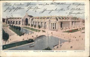 Expositions Louisiana Purchase St. Louis Palace of Manufactures Kat. Expositions