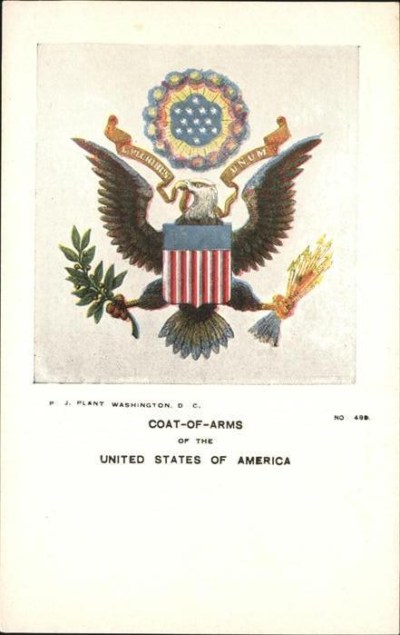 Heraldik Coat of Arms United States of America Kat. Heraldik
