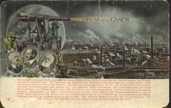 Dicke Bertha Krupp Essen Fabrik Alfred Krupp  Kat. Industrie