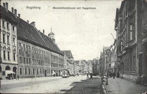 Strassenbahn Augsburg Maximilianstr. Fuggerhaus Kat. Bahnen