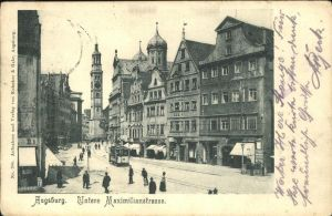 Strassenbahn Augsburg Untere Maximilianstr. Kat. Bahnen