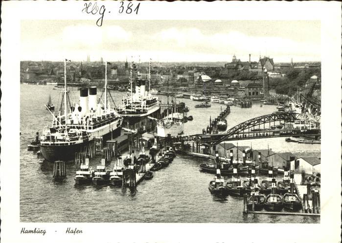Dampfer Oceanliner Schiffe Boote Hamburg Hafen Kat. Schiffe