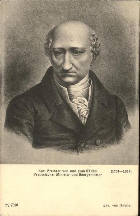 Verlag Ackermann Kuenstlerpostkarte Nr. Serie 701 Deutsche Maenner Karl Freiherr v. und zum Stein Kat. Verlage