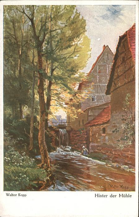 Kuenstlerkarte Nr. 5017 Walter Kopp Wenau Rubens Hinter der Muehle  Kat. Kuenstlerkarte