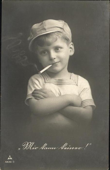 Zigarette Junge Kind Kat. Genussmittel