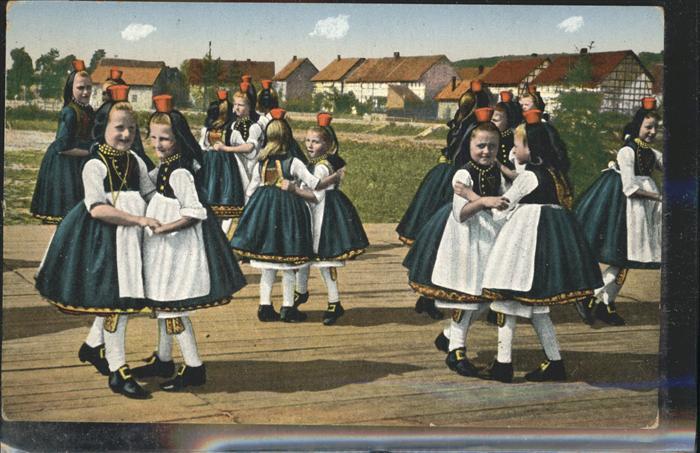 Trachten Hessische Schwaelmer Kinder Tanz Kat. Trachten