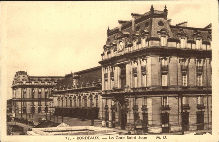 Bordeaux Gare Saint-Jean Kat. Bordeaux