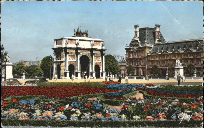 Paris Place et arc de triomphe du Carrousel / Paris /Arrond. de Paris