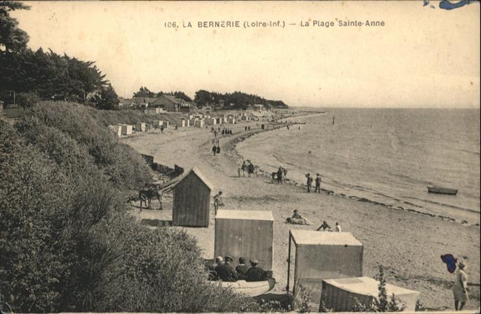 La Bernerie-en-Retz La Plage Sainte-Anne / La Bernerie-en-Retz /Arrond. de Saint-Nazaire