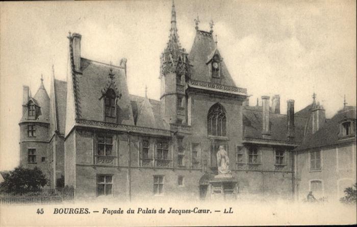 Bourges Facade du Palais de Jacques-Coeur / Bourges /Arrond. de Bourges