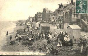 Villers-sur-Mer La Plage et la Digue / Villers-sur-Mer /Arrond. de Lisieux