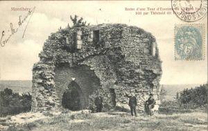 Montlhery Restes d'une Tour d'Enceinte du Chateau fort bati par Theobald dit File-Etoupe / Montlhery /Arrond. de Palaiseau