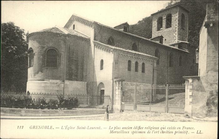 Grenoble Eglise Saint Laurent / Grenoble /Arrond. de Grenoble
