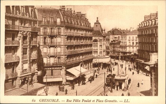 Grenoble Rue Felix Poulat Place Grenette Strassenbahn / Grenoble /Arrond. de Grenoble