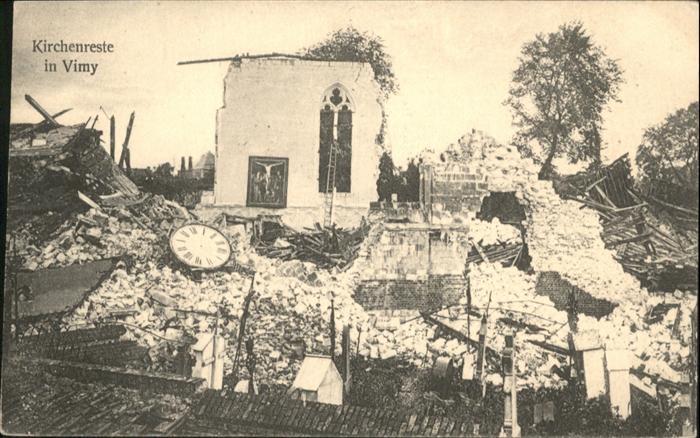 Vimy Kirchenreste / Vimy /Arrond. d Arras