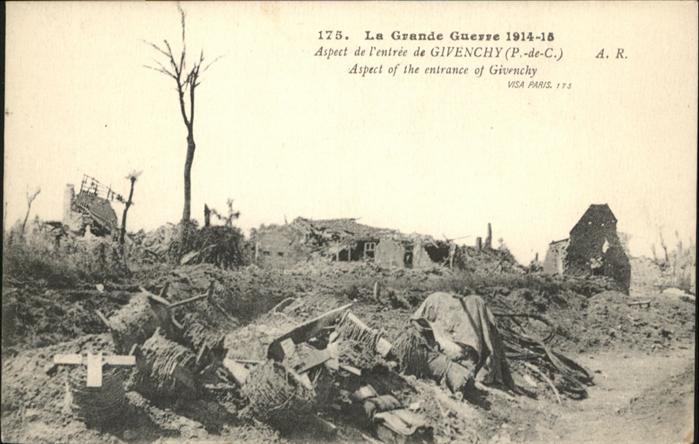 Givenchy-en-Gohelle Grande Guerre / Givenchy-en-Gohelle /Arrond. d Arras
