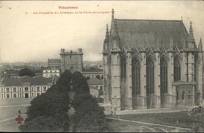 Vincennes la Chapelle du Chateau la Porte principale / Vincennes /Arrond. de Nogent-sur-Marne
