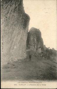 Carlat Escalier de la Reine / Carlat /Arrond. d Aurillac