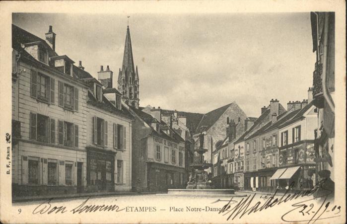 Etampes Place Notre Dame / Etampes /Arrond. d Etampes