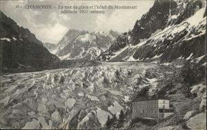 Chamonix La mer de glace l'Hotel du Montanvert / Chamonix-Mont-Blanc /Arrond. de Bonneville