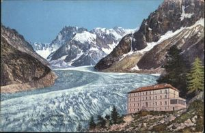 Chamonix La Mer de Glace l'Hotel du Montenvers / Chamonix-Mont-Blanc /Arrond. de Bonneville
