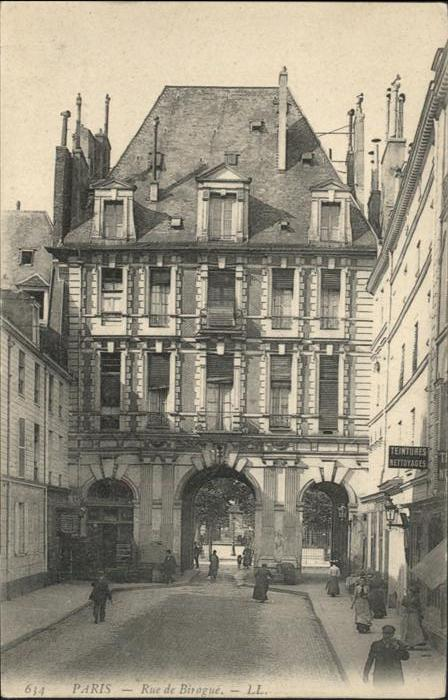 Paris rue de Birague / Paris /Arrond. de Paris