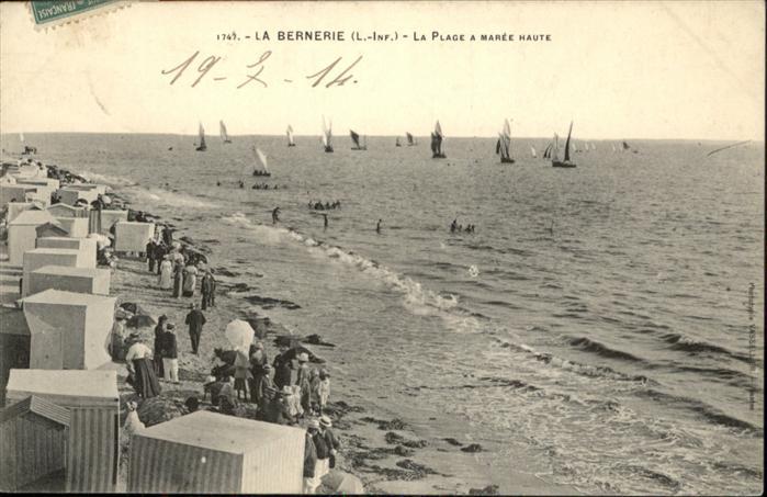 La Bernerie-en-Retz Plage a Maree Haute / La Bernerie-en-Retz /Arrond. de Saint-Nazaire
