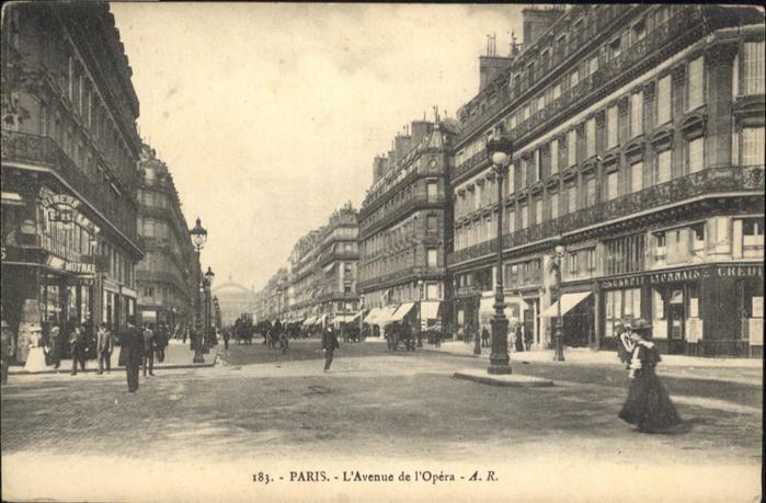 Paris Avenue de l`Opera / Paris /Arrond. de Paris