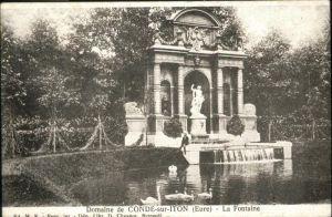 Conde-sur-Iton Fontaine Domaine de Conde sur Iton / Conde-sur-Iton /Arrond. d Evreux