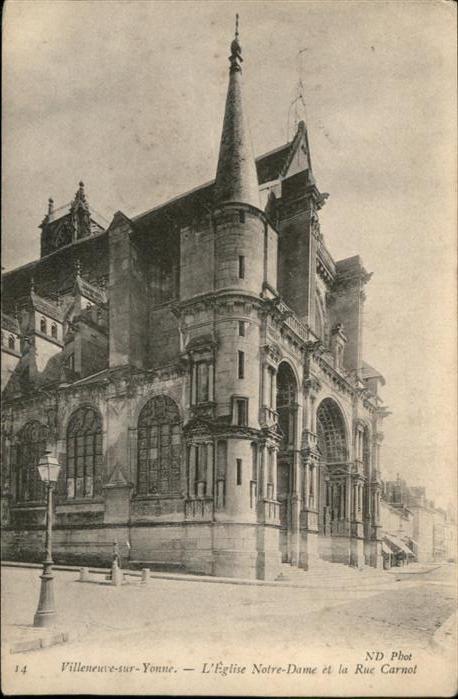 Villeneuve-sur-Yonne Eglise Notre Dame / Villeneuve-sur-Yonne /Arrond. de Sens
