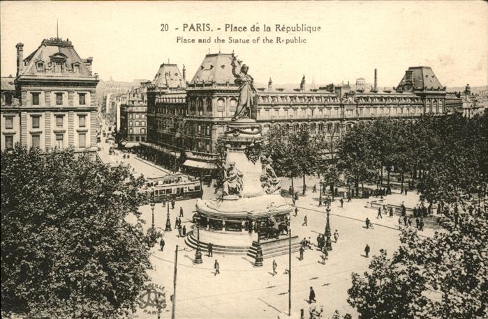 Paris Place de la Republique / Paris /Arrond. de Paris