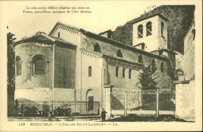 Grenoble Grenoble Eglise Kirche Saint-Laurent * / Grenoble /Arrond. de Grenoble