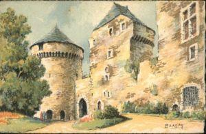 Lassay-les-Chateaux Lassay-les-Chateaux Cour Chateau Kuenstler Barday * / Lassay-les-Chateaux /Arrond. de Mayenne