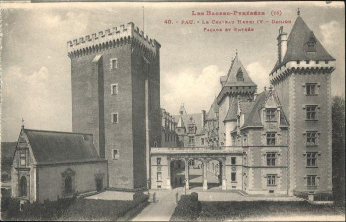 Pau Pau Chateau Henri IV * / Pau /Arrond. de Pau