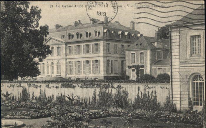 Le Grand-Luce Le Grand-Luce Chateau Jardin Francais x / Le Grand-Luce /Arrond. de La Fleche