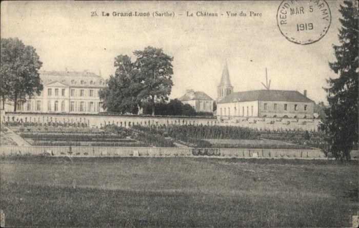 Le Grand-Luce Le Grand-Luce Chateau Parc x / Le Grand-Luce /Arrond. de La Fleche