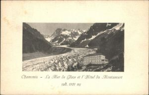 Chamonix Chamonix-Mont-Blanc Hotel du Montanvert Mer Glace Gletscher x / Chamonix-Mont-Blanc /Arrond. de Bonneville