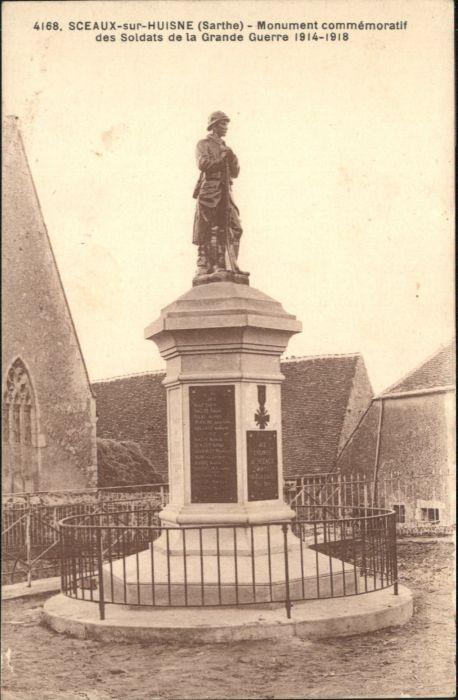 Sceaux-sur-Huisne Sceaux-sur-Huisne Monument Commemoratif Soldat Grande Guerre * / Sceaux-sur-Huisne /Arrond. de Mamers
