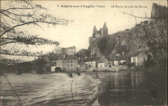 Angles-sur-l Anglin Angles-sur-l'Anglin Vienne Moulin Ruines * / Angles-sur-l Anglin /Arrond. de Montmorillon