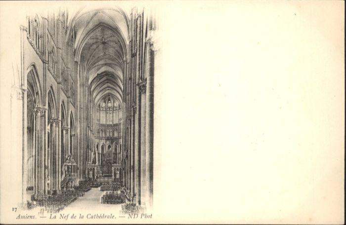 Amiens Amiens La Nef de la Cathedrale * / Amiens /Arrond. d Amiens