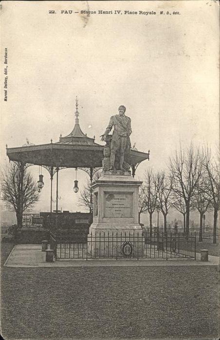 Pau Statue Henri IV Kat. Pau