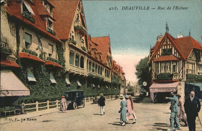 Deauville Rue de l`Ecluse Kat. Deauville