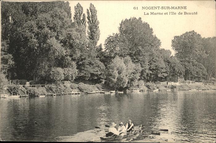 hw06842 Nogent-sur-Marne Marne Ile de Beaute  Kategorie. Nogent-sur-Marne Alte Ansichtskarten