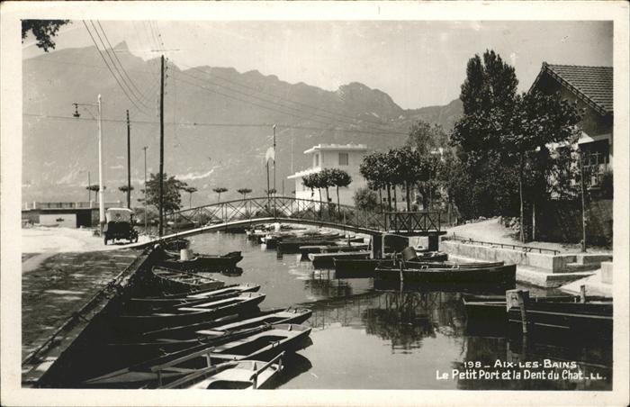 Aix-les-Bains Petit Port Dent du Chat Kat. Aix-les-Bains