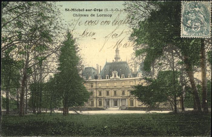Saint-Michel-sur-Orge Chateau Lormoy Kat. Saint-Michel-sur-Orge