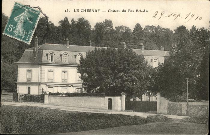 Le Chesnay Chateau du Bas Bel Air Kat. Le Chesnay