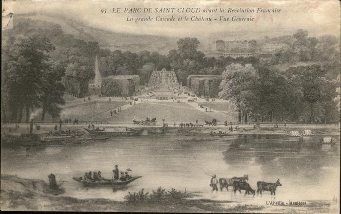 Saint-Cloud Hauts-de-Seine Parc Schiff Kuehe Kat. Saint-Cloud